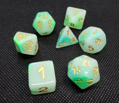 RPG Wuerfel Set Creamy Green Apple