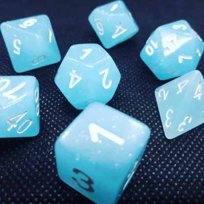 RPG Wuerfel Set Creamy Blue