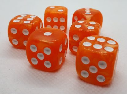 RPG Wuerfel Set D6 16mm Pearl Orange