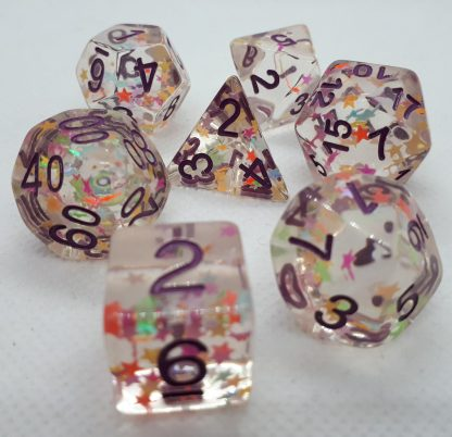 RPG Wuerfel Set Stars Purple