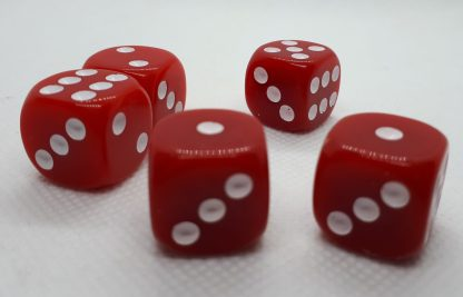 RPG Wuerfel Set D6 16mm Opaque Red