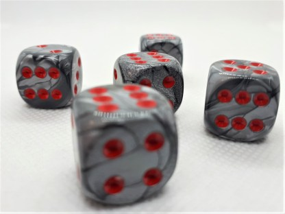 RPG Wuerfel Set Marble Deluxe RED