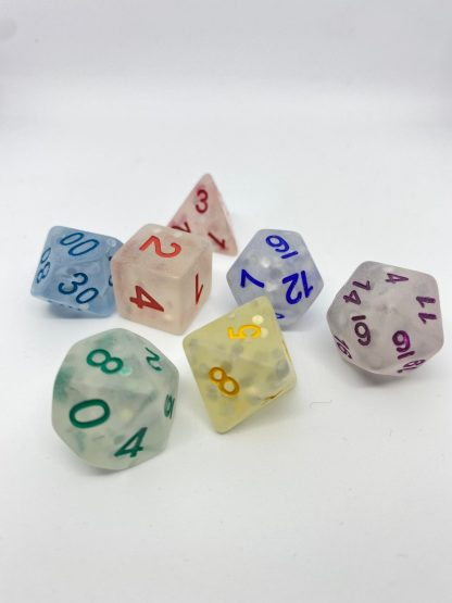 RPG Wuerfel Set Frosted Rainbow