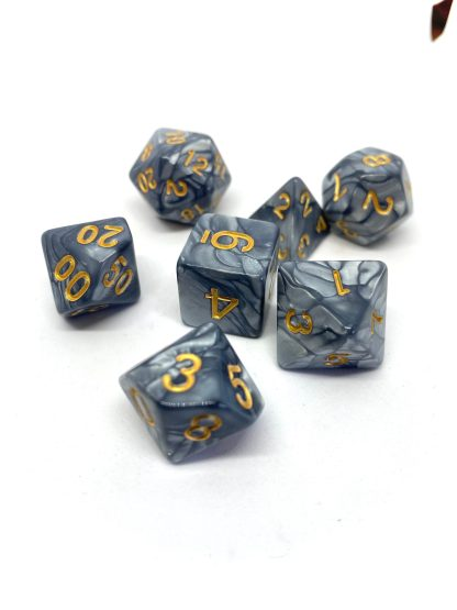 RPG Wuerfel Set Pearl Grey