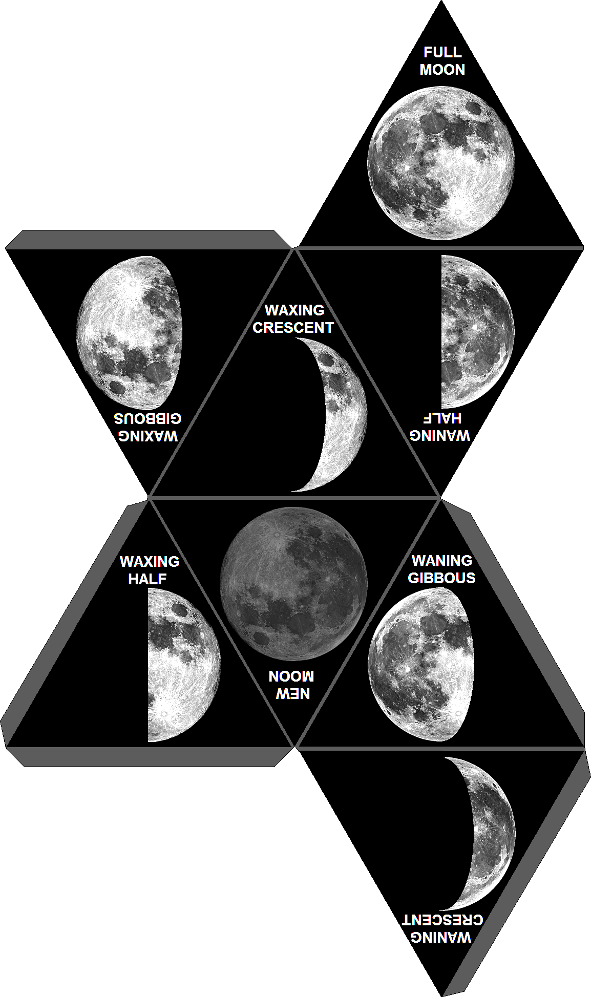 8 Phases Of The Moon In Order