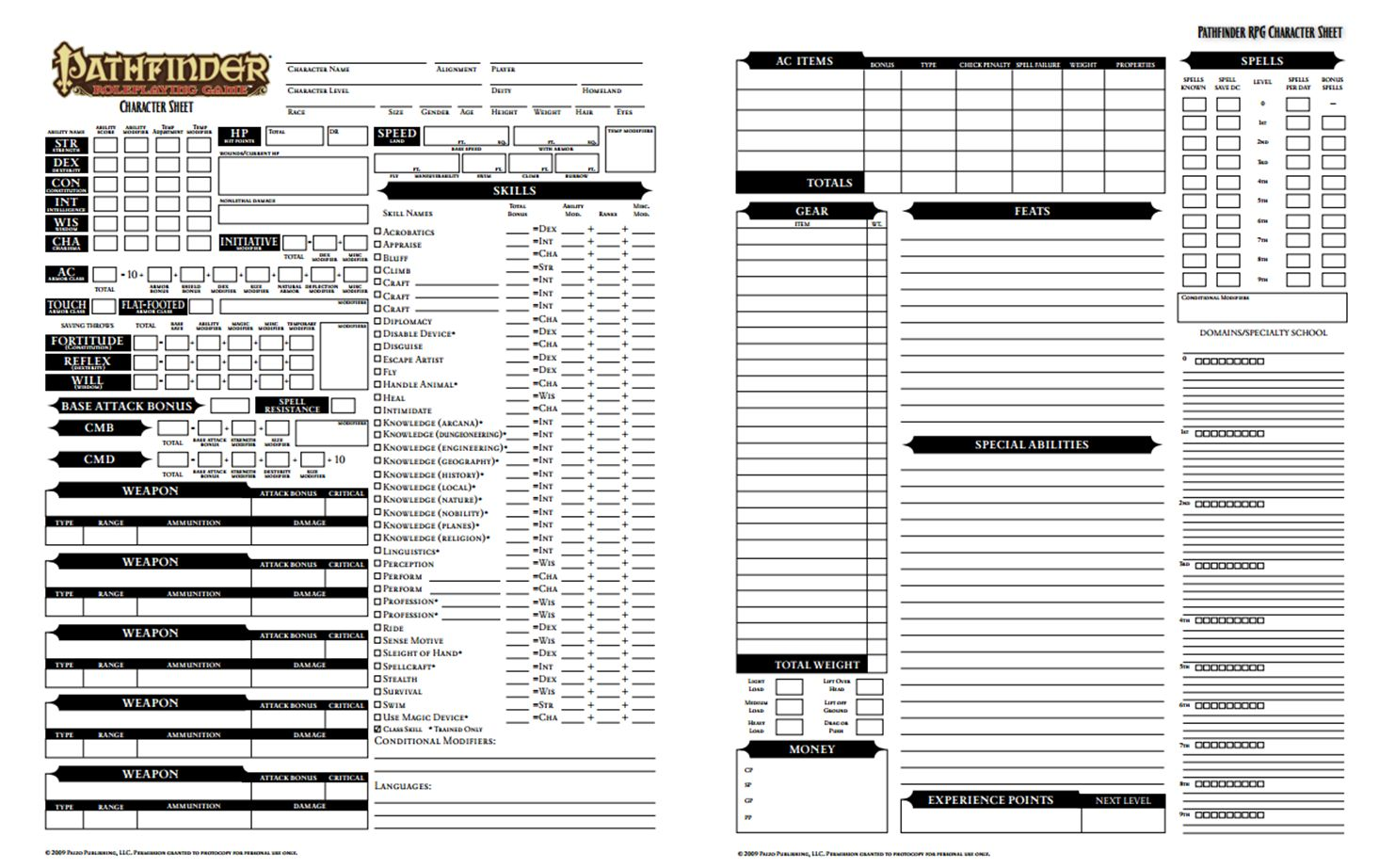 Pdf pathfinder core