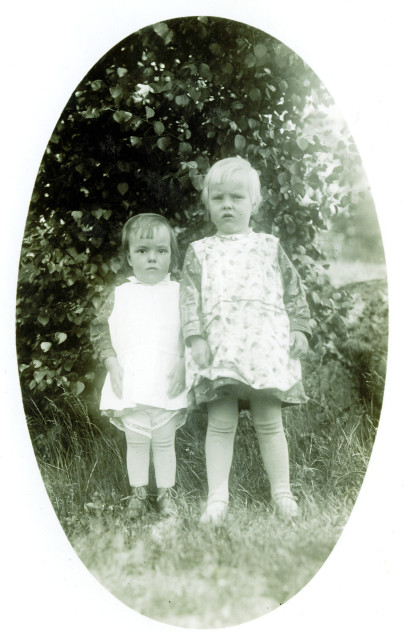 My mother and her sister near Kuusankoski