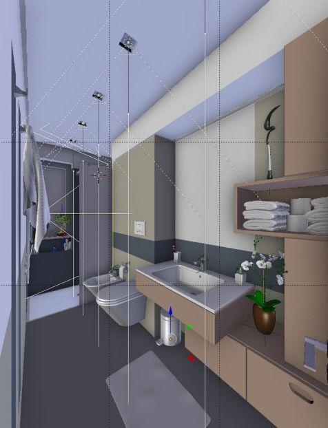 Bathroom - wireframe