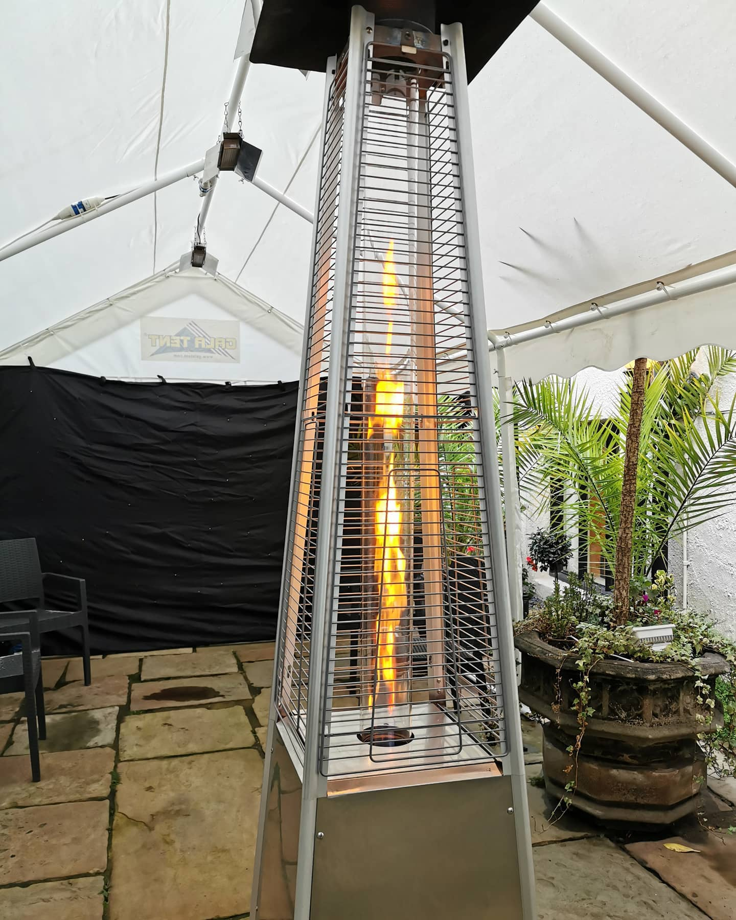 outdoor flame heater hire