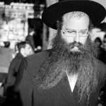 Orthodox men in Mea Shearim believe it is a biblical commandment to wear beards.