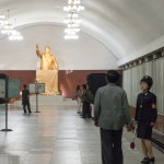 Kim Il Song statue at Kaeson (Triumph) Station