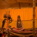 Sadhus share wisdom with followers and other visitors