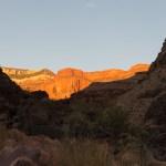 Galloway Camp, Looking up Galloway Canyon