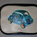Vintage Fiat 500 Computer Carrying Case w/ Pouch