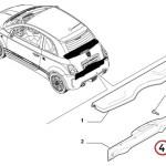 Wiper Cowl & Scuff Plate Clip (Fiat/Abarth 500)