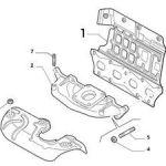 Exhaust Manifold Gasket w/ Heat Shield (Fiat/Abarth 500)