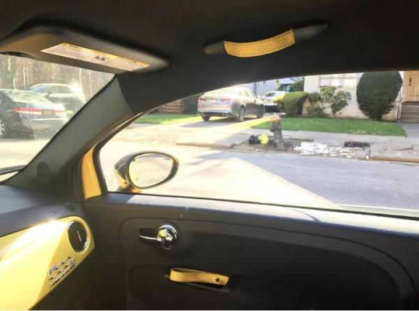Biposto Door Pull Fiat Abarth 500 Yellow