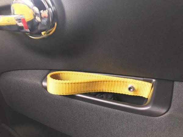 Biposto Door Pull Fiat Abarth 500 Yellow Strap