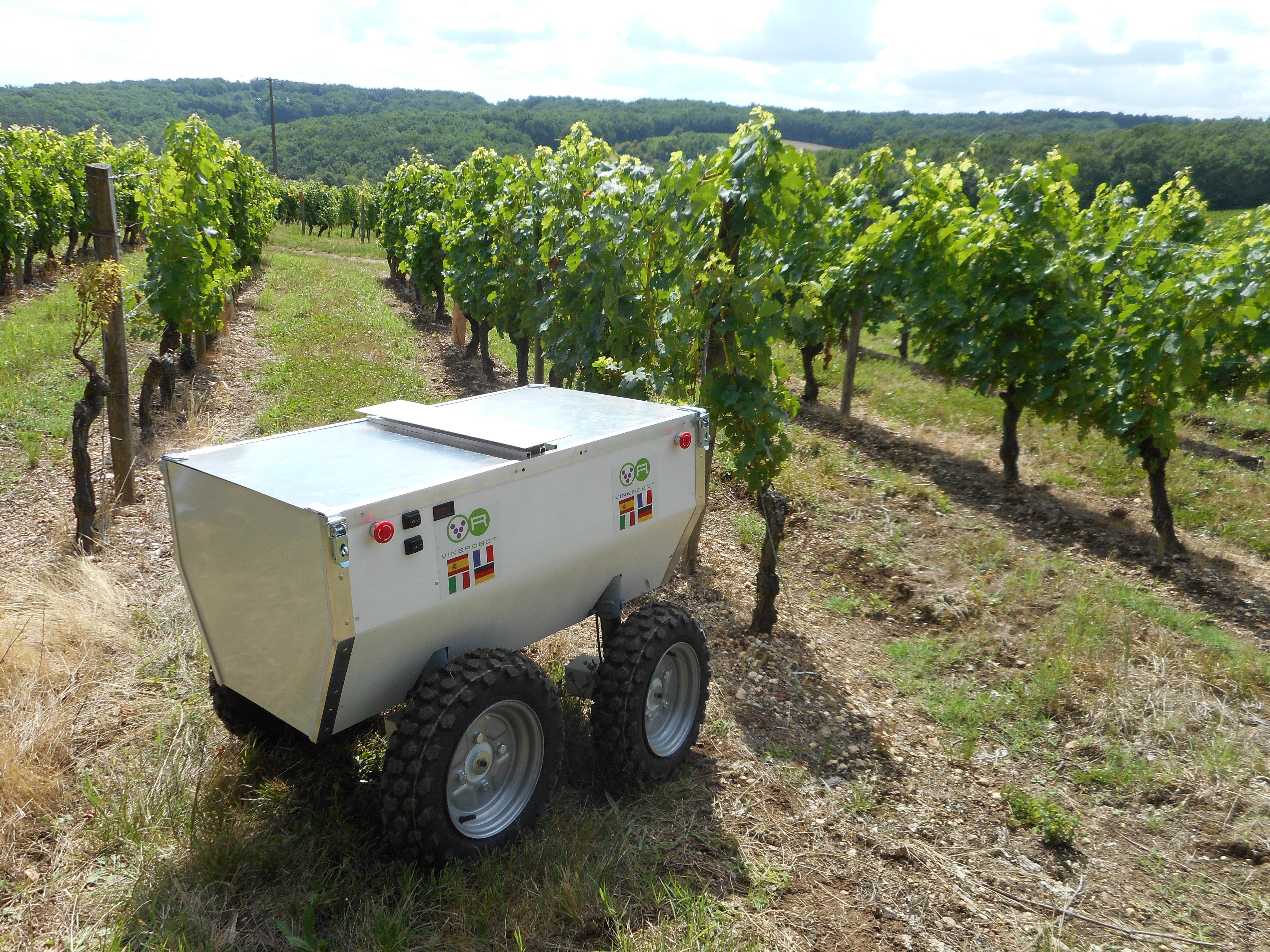 Robot para la industria vitivinícola. Foto: UPV.