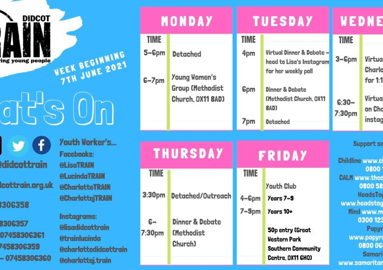 Lots going on at TRAIN this week!