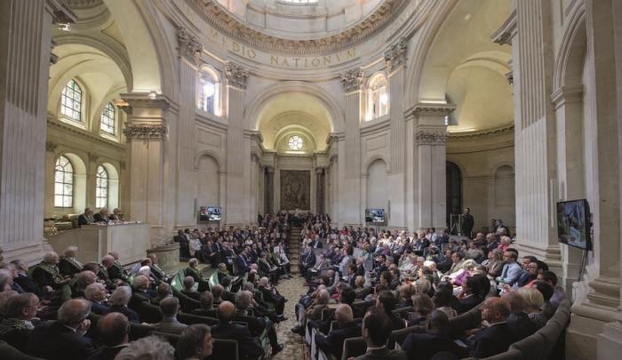 Cérémonie de remise des Grands prix scientifiques sous la coupole de l'Institut de France