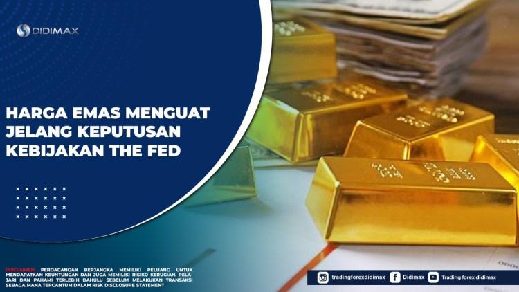 Harga Emas Menguat Jelang Keputusan Kebijakan The Fed