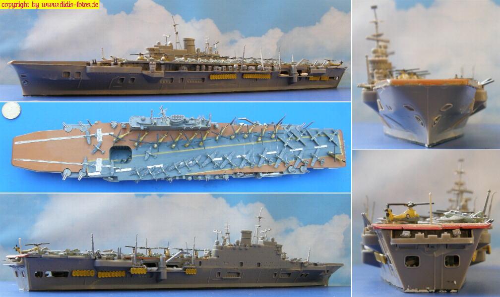 """R-09 H.M.S. """"Ark Royal"""" der Audacious-Klasse (Fujimi 44123)"""