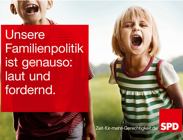 SPD Wahlkampfplakat Familienpolitik