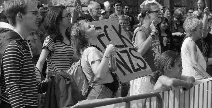 Gegen rechte Parteien in Europa Foto: M. Seehoff