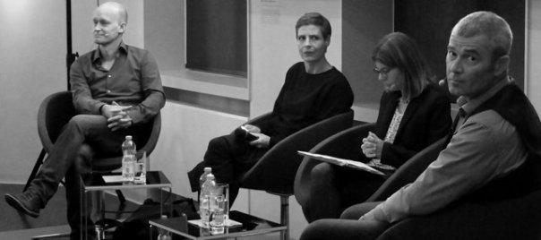 Arno Geiger, Moderatorin Barbara Staudinger, Historikerin Katrin Hammerstein und der Generalsekretär des Comité International de Mauthausen (v.l.n.r.) Foto: © M. Seehoff