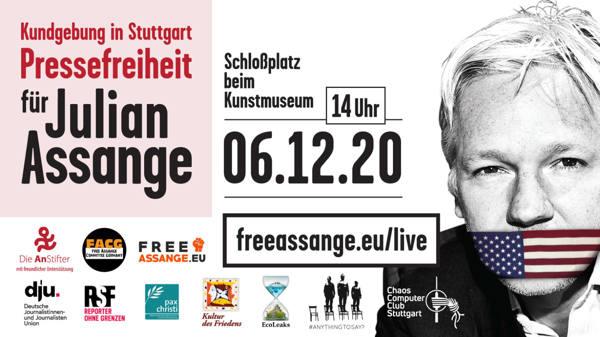 Kundgebung für Julian Assange am 6.12.2020