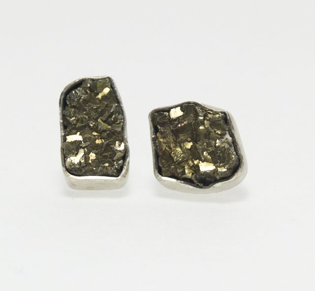 ohrstecker pyrit, ohrring