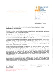 Entstehung Nullschwellen-Runderlass_erhaltene Unterstützung für Ulrike Jocham, die Frau Nullschwelle vom GPS Pflegedienst