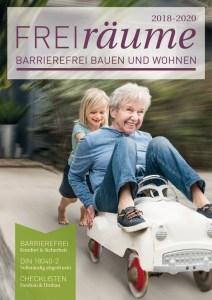 Cover Freiräume 2018-2020 mit Artikel von Ulrike Jocham, die Frau Nullschwelle: Nullschwellen seit über 20 Jahren möglich - überholte Türschwellen-Technik verschärft Pflegenotstand und verhindert Inklusion