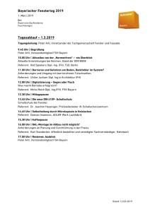 Programm vom Bayerischen Fenstertag 2019 mit Vortrag von Ulrike Jocham, der Frau Nullschwelle