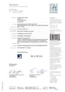 RC 2 Einbruchschutz mit Nullschwelle ist möglich