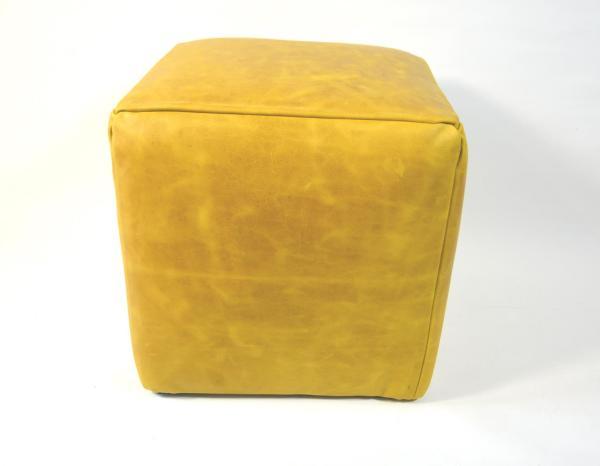 Sitzhocker aus Leder