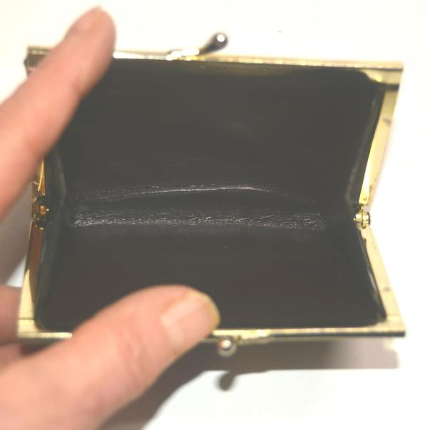 Geldbörse Portemonnaie Portefeuille Damenbörse dunkelbraun glänzend