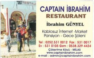 Kontaktdaten Captain Ibrahim