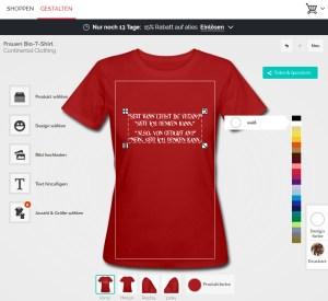 Veganima - T-Shirts selbst gestalten