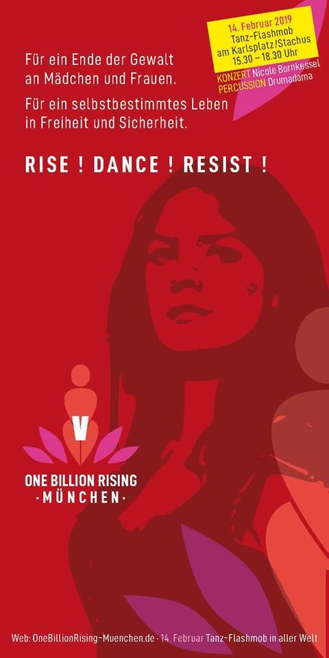 One Billion Rising 2019 München Flyer