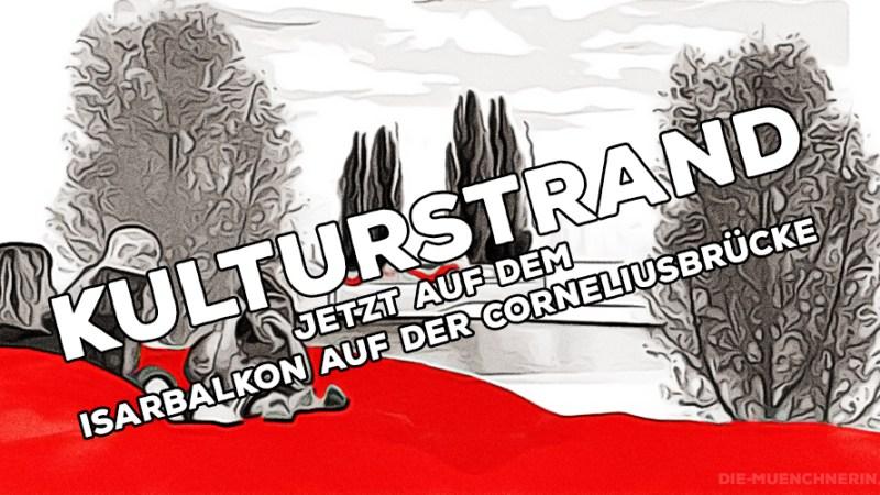 Kulturstrand München auf dem Isarbalkon