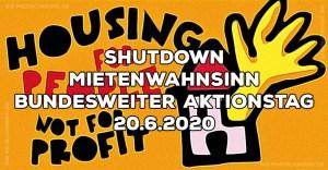 Shutdown Mietenwahnsinn Muenchen