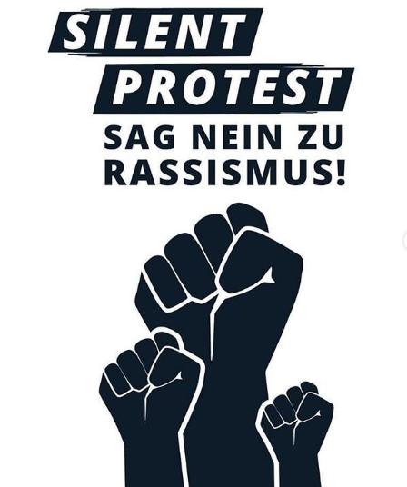 SILENT PROTEST Sag NEIN zu RASISSMUS!