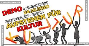 Demo und Kundgebung - Aufstehen für Kultur
