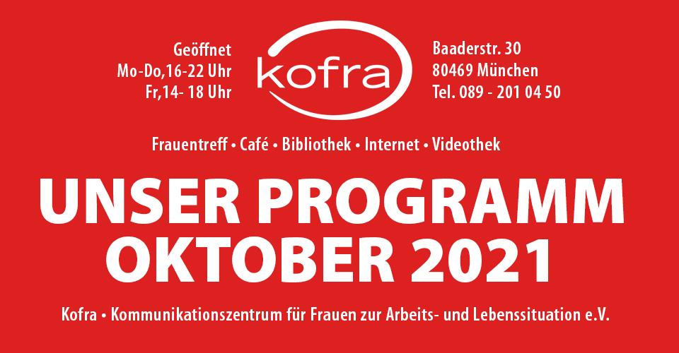 Kofra Termine Oktober 2021