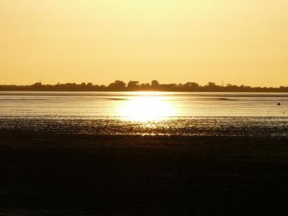 Sonnenuntergang am Jadebusen