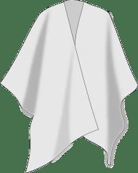 Poncho aus Seide