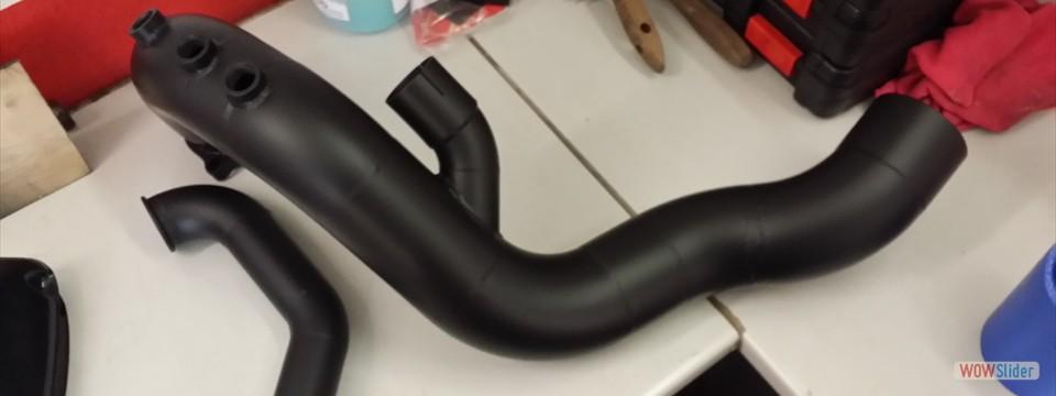 Downpipe mit Ceramik Beschichtung