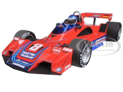 Brabham Alfa Romeo BT45B 8 Hans-Joachim Stuck Martini Racing 1977 Limited Edition to 792pcs 1/18 Diecast Model Car by Minichamps